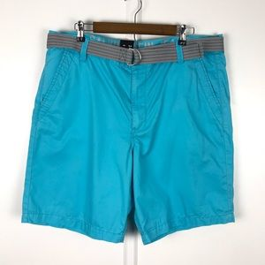 Calvin Klein Shorts Flat Front Chino Casual Belt